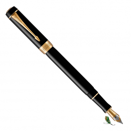 Pluma Estilográfica Parker Duofold Black GT International