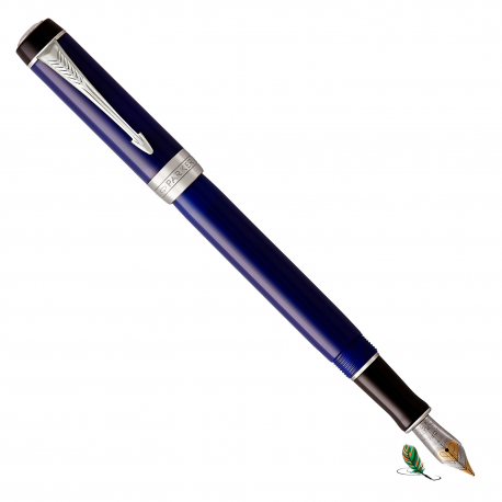 Pluma Estilográfica Parker Duofold Classic Blue CT International