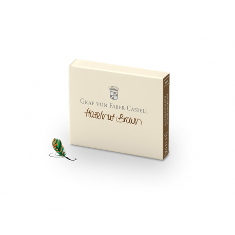 Cartuchos de tinta Graf von Faber-Castell Hazelnut Brown