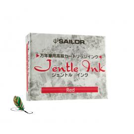 Cartuchos de tinta Sailor Jentle Rojo