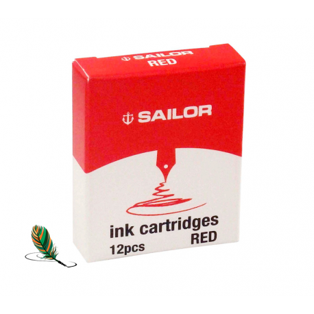Cartuchos de tinta Sailor Red