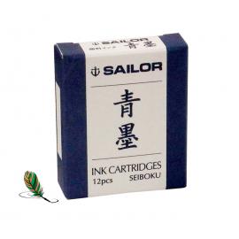 Cartuchos Sailor de tinta pigmentada azul