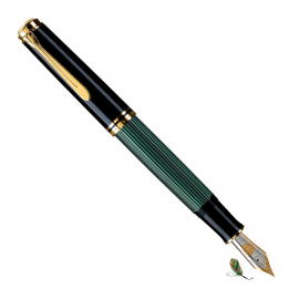 Pluma Estilográfica Pelikan Souverän M1000 Negro-verde