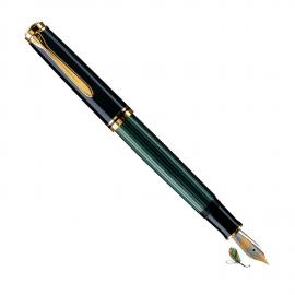Pluma Estilográfica Pelikan Souverän M800 Negro-verde