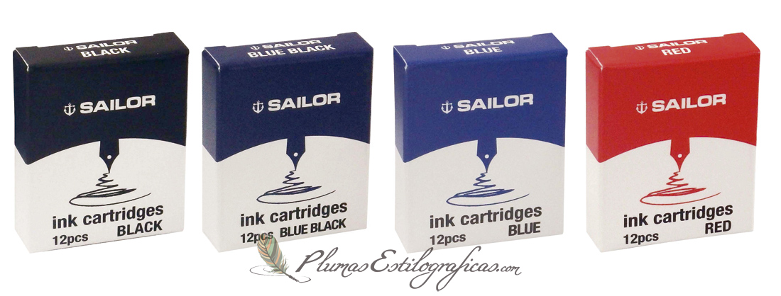 Cartuchos de tinta Sailor