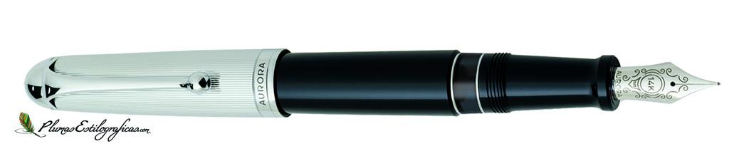 Estilográfica Aurora 88 Cromo/negro grande 806