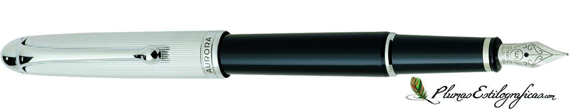 Estilográfica Aurora 88 Cromo/negro 817