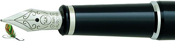 Plumín Aurora 88 Cromo/negro 817
