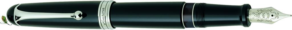 Estilográfica Aurora 88 Negro/cromo 800-C big