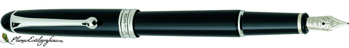 Estilográfica Aurora 88 Negro/cromo 810-C