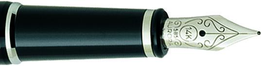 Plumín Aurora 88 Negro/cromo 810-C