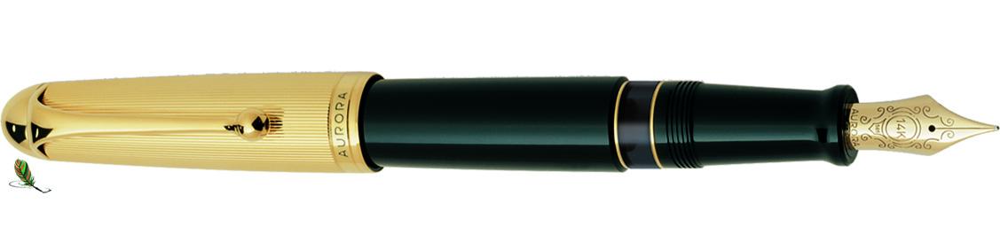 Estilográfica Aurora 88 Oro/negro 801 big
