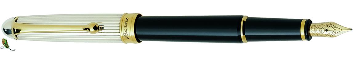 Estilográfica Aurora 88 Plata/negro 814
