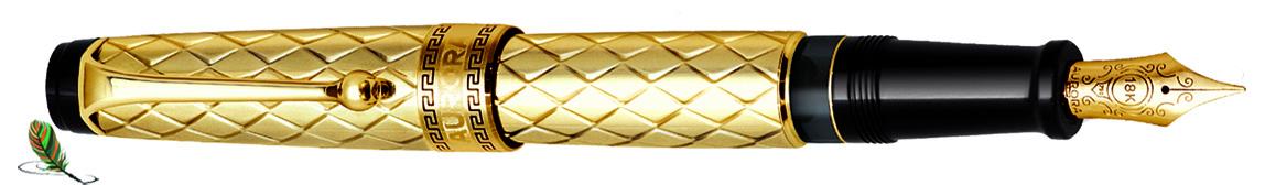 Estilográfica Aurora Optima Riflessi Oro