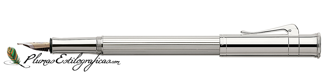 Estilográfica Graf von Faber-Castell Classic Platino 145560