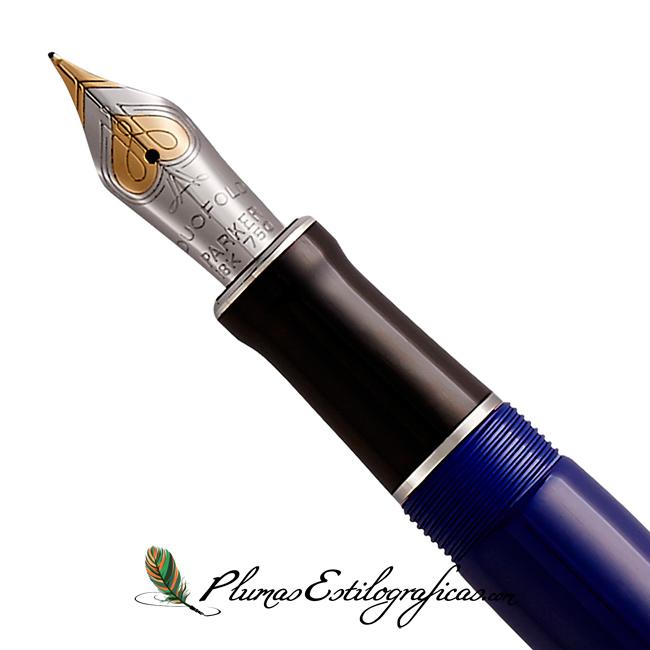 Estilográfica Parker Duofold Classic Azul CT Centennial plumín