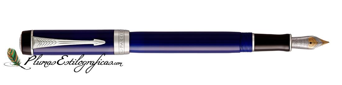 Estilográfica Parker Duofold Classic Negro y Azul CT International 1947985