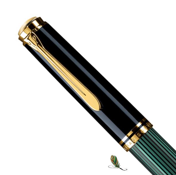 Capuchón Pelikan Souveraen M 1000 Negro-verde