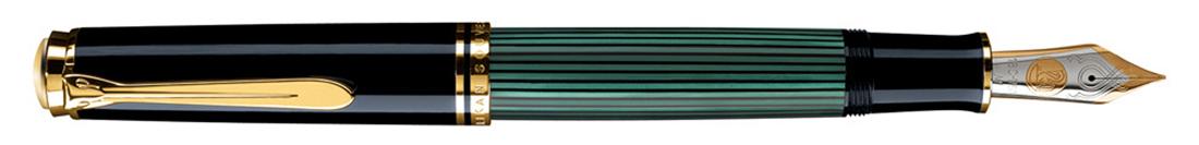 Estilográfica Pelikan Souveraen M 1000 Negro-verde