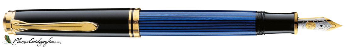Estilográfica Pelikan Souveraen M 600 Negro-azul