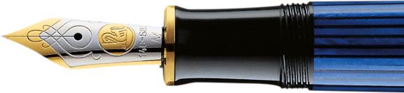 Plumín Pelikan Souveraen M 600 Negro-azul