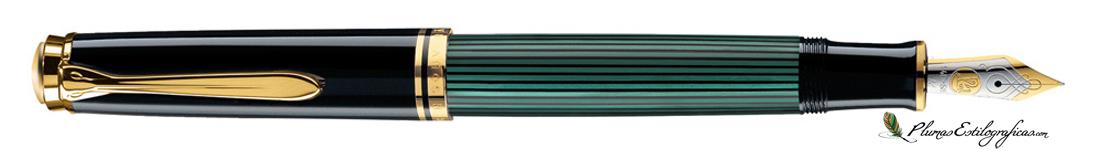 Estilográfica Pelikan Souveraen M 600 Negro-verde