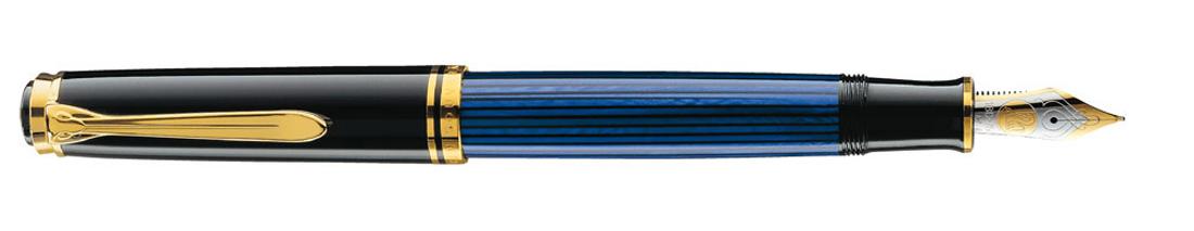 Estilográfica Pelikan Souveraen M 800 Negro-azul