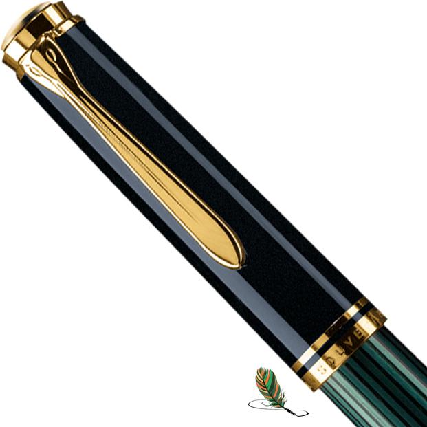 Capuchón Pelikan Souveraen M 800 Negro-verde