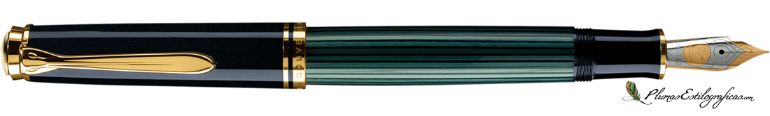Estilográfica Pelikan Souveraen M 800 Negro-verde