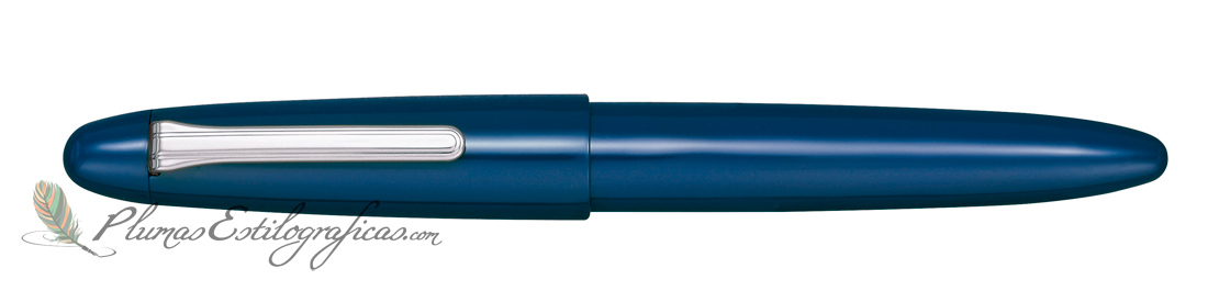 Estilográfica Sailor King of Pens Urushi Blue Silver 10-8160-440