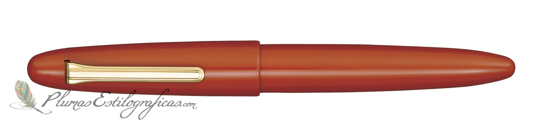 Estilográfica Sailor King of Pens Urushi Vermillion Orange 10-9175-433