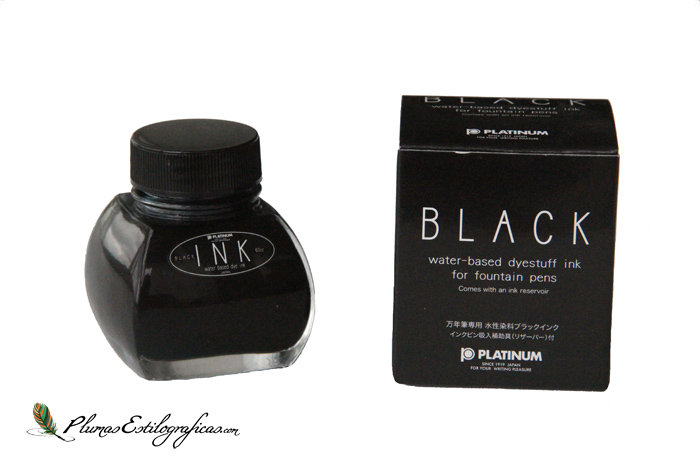 Tintero Platinum base colorante Black con caja