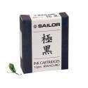 Cartuchos Sailor de tinta pigmentada negra