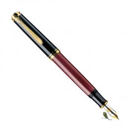 Pluma Estilográfica Pelikan Souverän M600 Negro-rojo